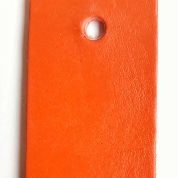cuir végétal orange