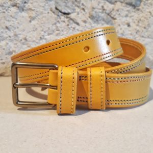 ceinture 30 mm moutarde fil multicolore-2