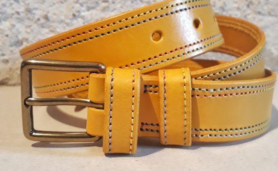 ceinture 30 mm moutarde fil multicolore-2