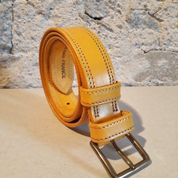 ceinture 30 mm moutarde fil multicolore-3