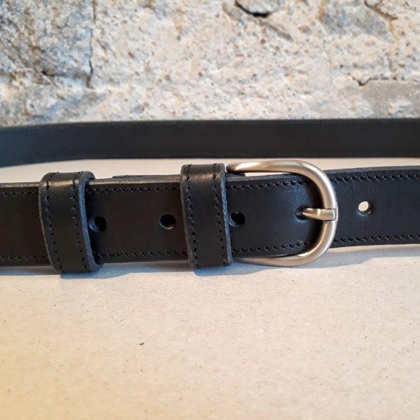 ceinture cuir noir 30 mm-3