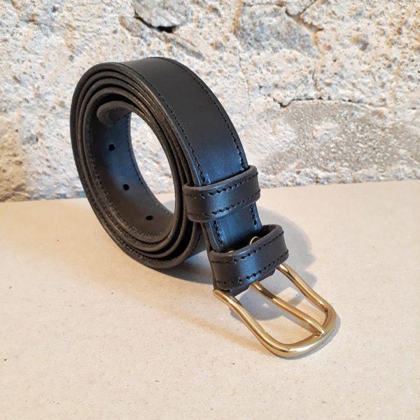 ceinture cuir noir 30 mm-5