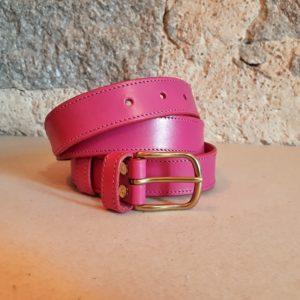 ceinture cuir rose 30 mm-6