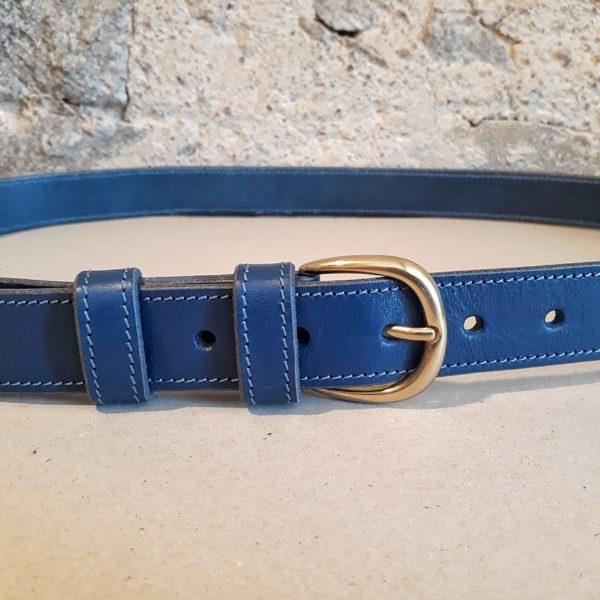 ceinture en cuir bleu jean 30 mm-2