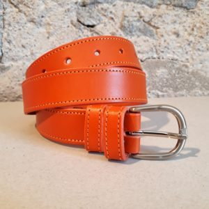 ceinture en cuir orange 30 mm-3